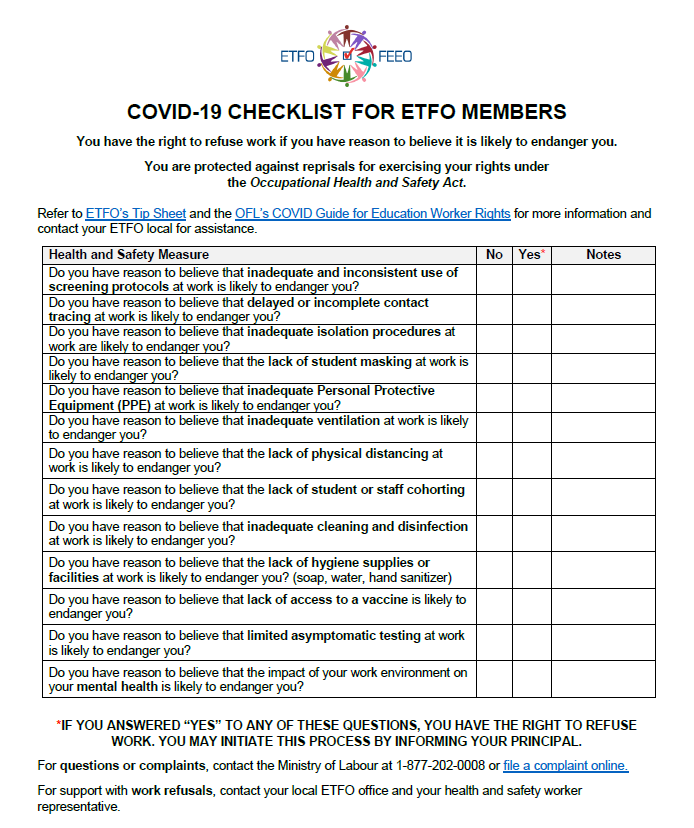 image of the checklist